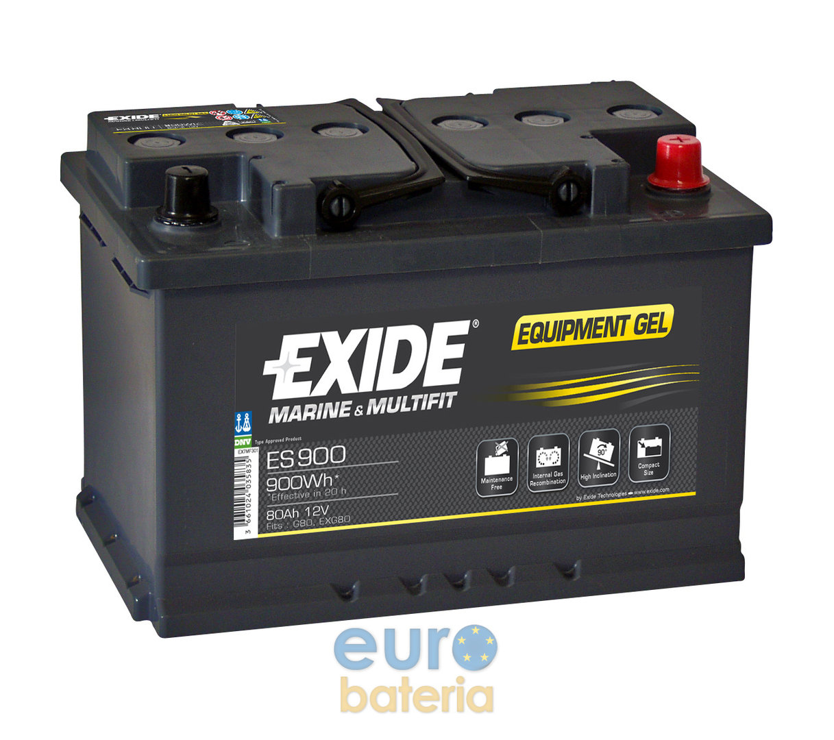 battery 12v 80ah exide gel es900. Black Bedroom Furniture Sets. Home Design Ideas