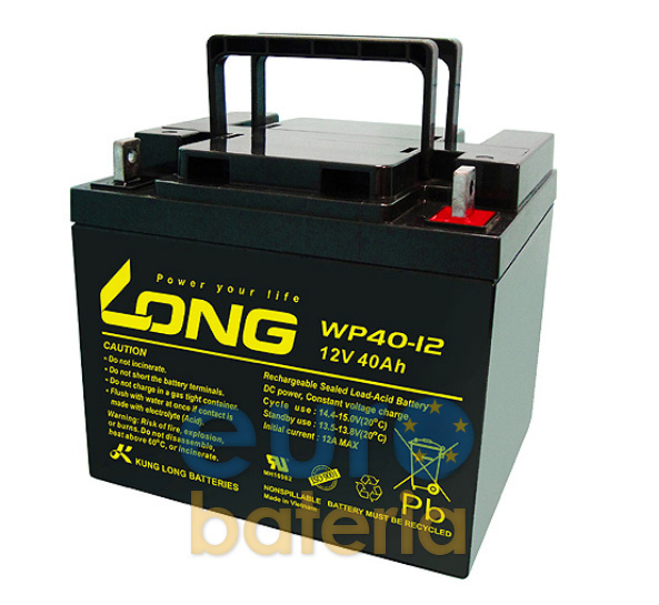 battery long agm 12v 40ah wp40 12 specials for scooters and wheelchairs. Black Bedroom Furniture Sets. Home Design Ideas