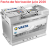 VARTA START STOP PLUS AGM 12V 70AH E39 760A