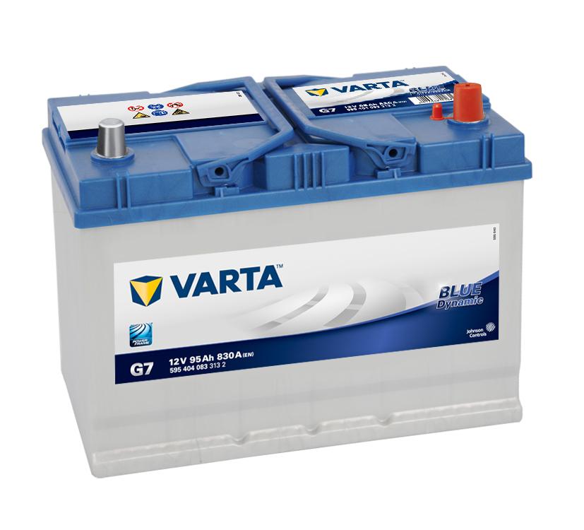 varta battery g7 95ah blue dynamic 830a 12v. Black Bedroom Furniture Sets. Home Design Ideas