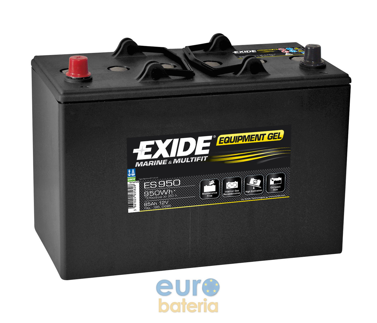 battery exide gel 12v 85ah g85 es950. Black Bedroom Furniture Sets. Home Design Ideas